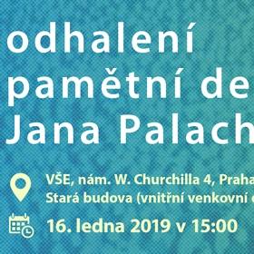 Odhalení pamětní desky Jana Palacha