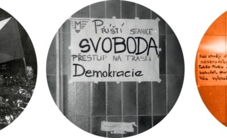 """Výstava """"Ze Škroupáku na Národní a dále ke svobodným volbám…"""""""